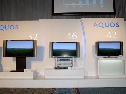 Sharp unveils new 52-, 46- and 42-inch Aquos 1080p LCDs