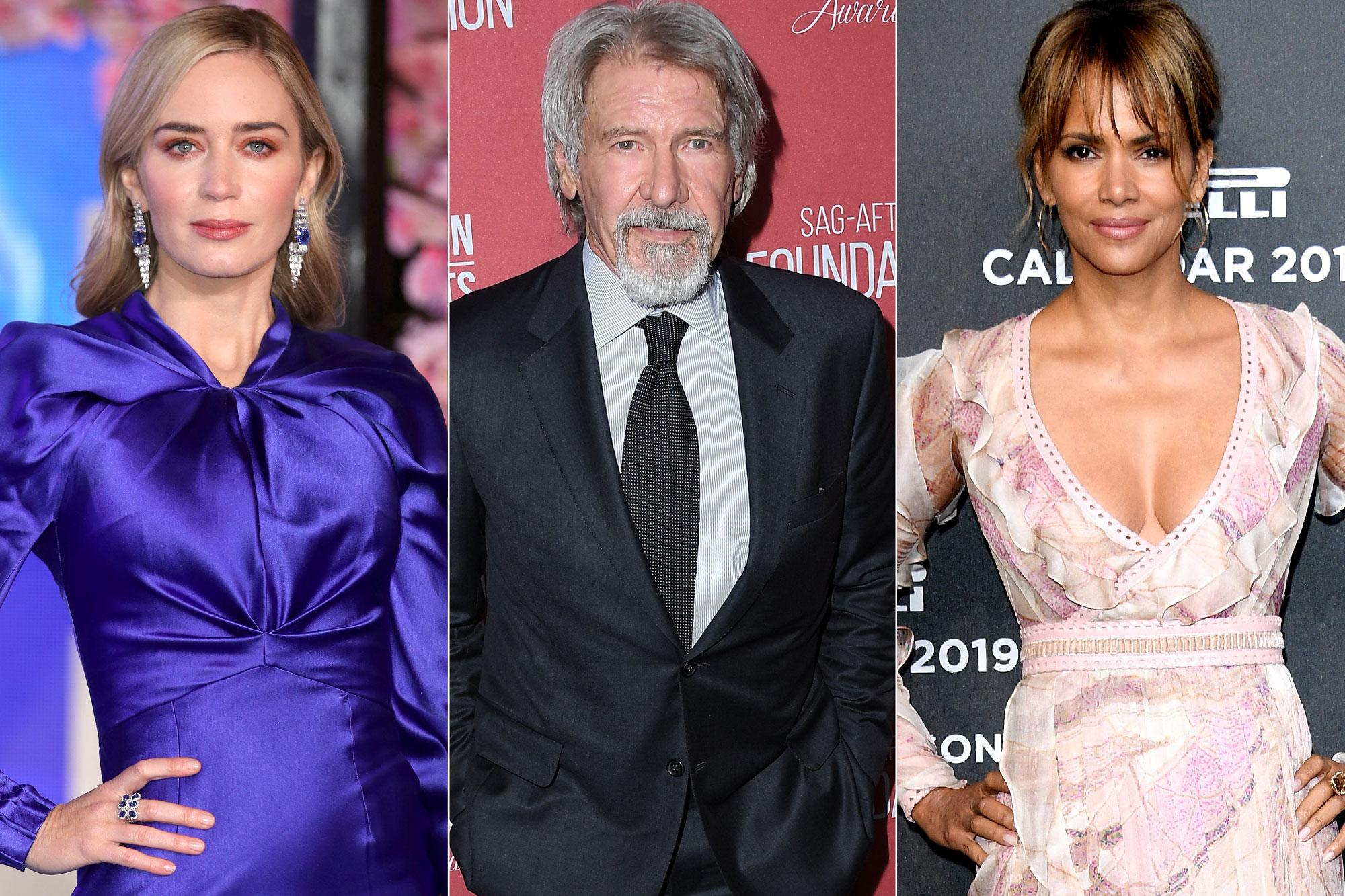 Golden Globes: Emily Blunt, Harrison Ford and Halle Berry ...