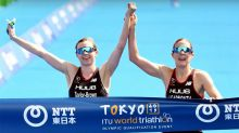 Why this image of triathlon 'winners' has sparked controversy