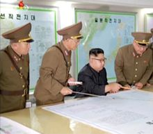 North Korea's Kim Jong Un Shows off Guam Attack Plans