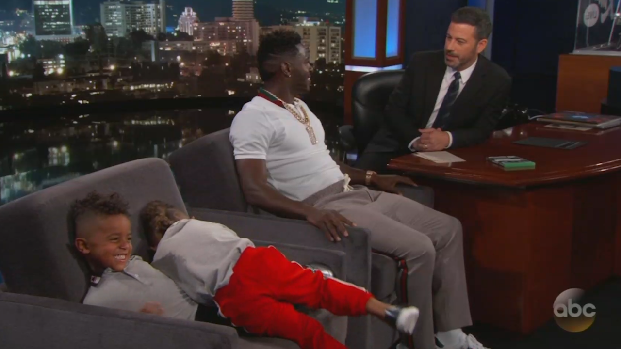 Antonio Brown\'s adorable sons steal the show on \'Jimmy Kimmel Live ...