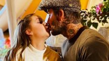 David Beckham's kiss with daughter Harper, 9, sparks debate