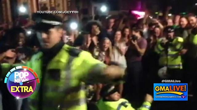 British Cops Boogie Down at Notting Hill Carnival