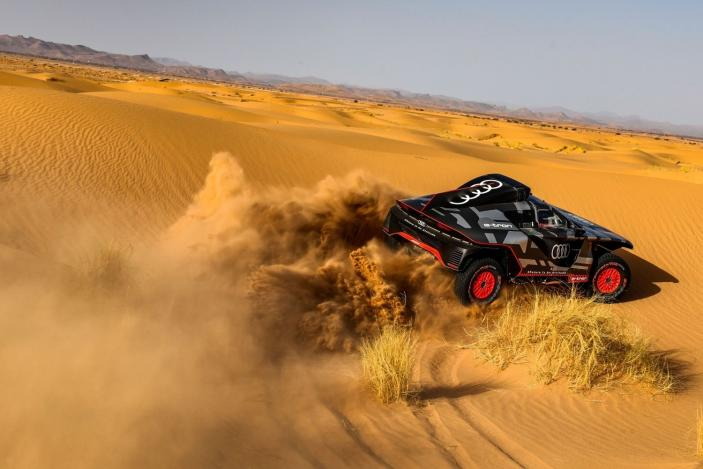 Audi tested its RS Q E-Tron hybrid in the deserts of Morocco