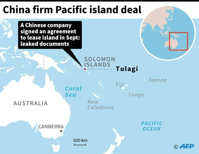 China signs deal to 'lease' Pacific island in Solomons on usa pacific region map, world war ii pacific battle map, world war two pacific map,