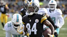 Steelers' Antonio Brown joins rare company with two long first-quarter TD catches
