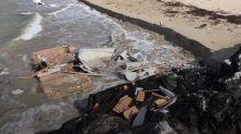 Woman dead after caravan blown off cliff as Storm Ali strikes