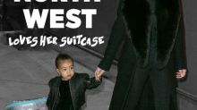 "North West Loves Her ""Frozen"" Suitcase So Much She Won't Let It Go"