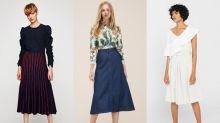 過膝正是最優雅的長度:由上班穿到 Happy Hour,30+ 女士必備的 15 條中長半截裙!