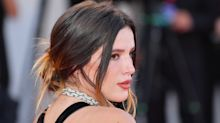 Bella Thorne embraces naked dress trend at Venice Film Festival