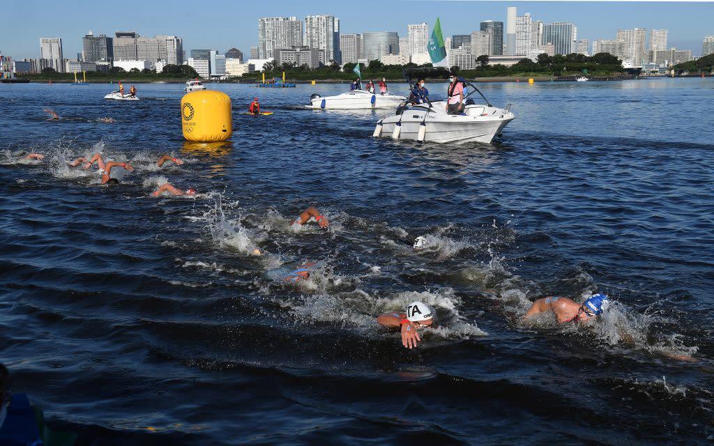 東京奧運 港隊方胤在男子游泳馬拉松排22名完成
