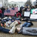 Students stage 'lie-in' at White House to protest Donald Trump's stance on gun control