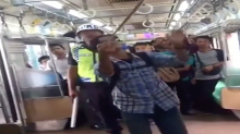 Indonesian Passenger Brings The Pain To Snake On Train