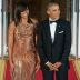 Michelle Obama wore a chainmail Versace gown at her last state dinner as FLOTUS and the internet could not deal