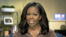 Trump responds to Michelle Obama's speech with jab at 'your husband'