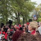 Striking Chicago Teachers Visited by Elizabeth Warren