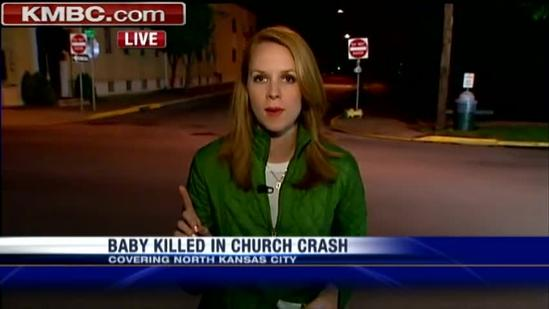 Baby dies in church parking lot crash