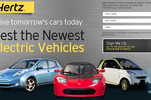 Hertz plug-in rental program to boast 1,000 vehicles, including the Tesla Roadster