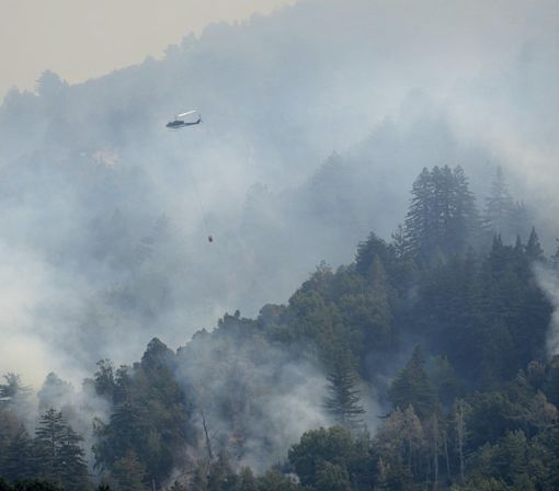 New Blaze Spreads as Firefighters Continue Battle Against Big Sur Wildfire