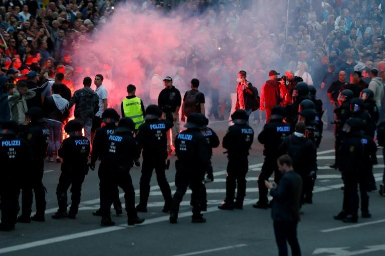 Chemnitz, another city in Saxony, which was the scene of anti-migrant street violence following the murder of a German man in August last year (AFP Photo/Odd ANDERSEN)