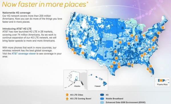 AT&T continues 4G LTE expansion, plans to light up eleven markets by early summer