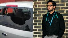 Junior doctor left unable to treat coronavirus patients after thugs smash up his car