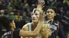 No. 1 Oregon easily downs Northeastern 89-47 in opener