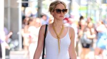 Jennifer Lawrence Is the Epitome of Summer Chic in Sexy Bodysuit and Skinny Jeans