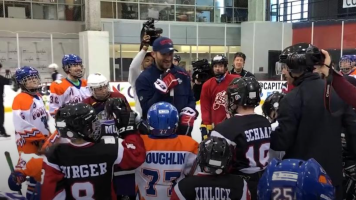 Ovechkin skates with special-needs players