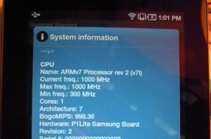 WiFi Galaxy Tab running on an older CPU than its 3G siblings?