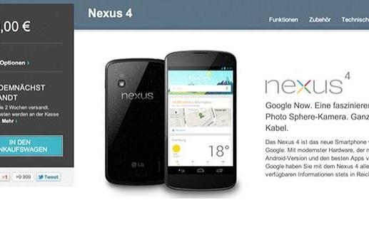 Nexus 4 smartphones back on Google Play in Germany (Update: now available in the US and Canada!)