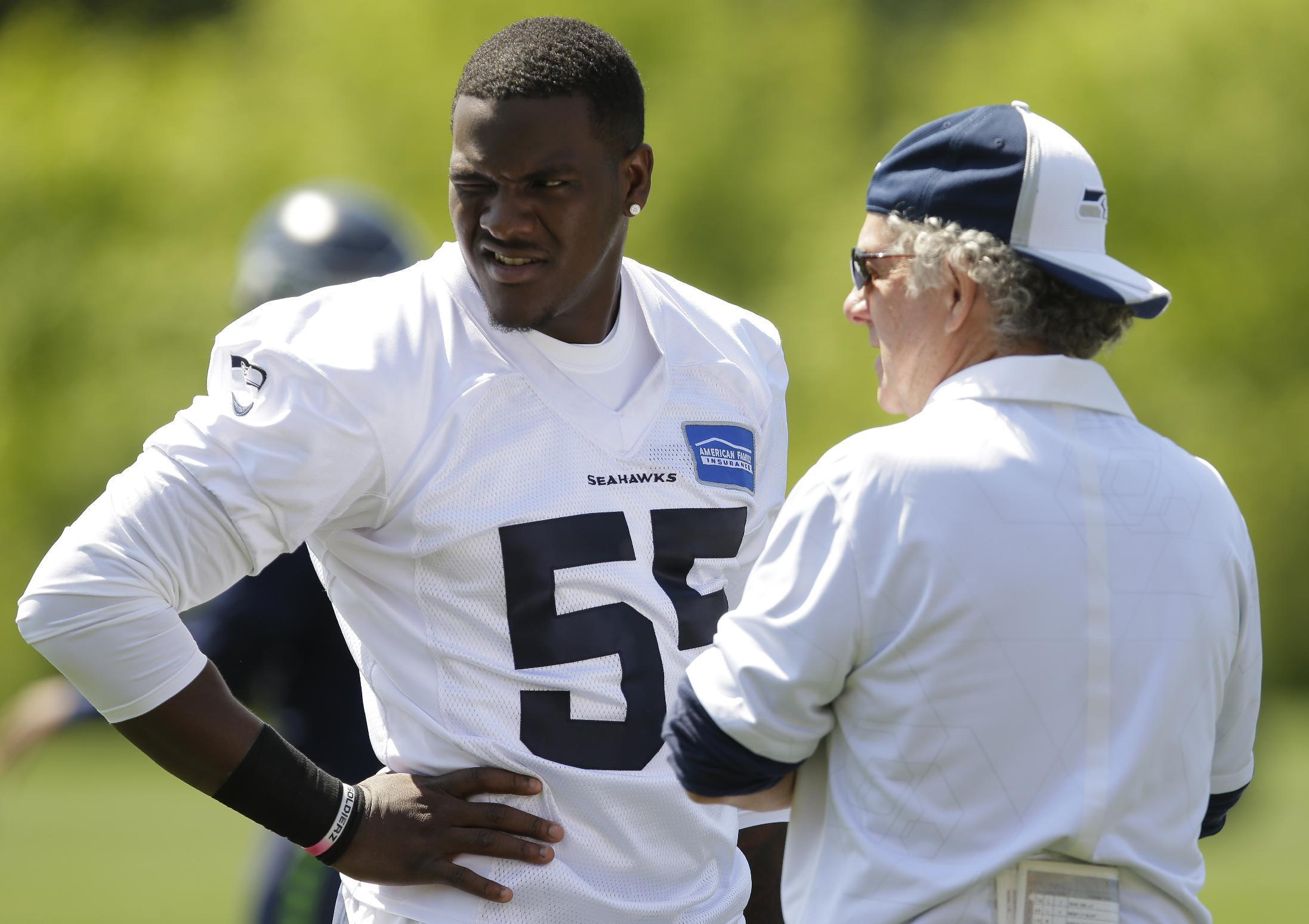Seahawks Frank Clark in group of 5 high risk rookies showing
