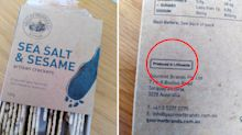Coles slammed over 'deceptive' detail on pack of crackers