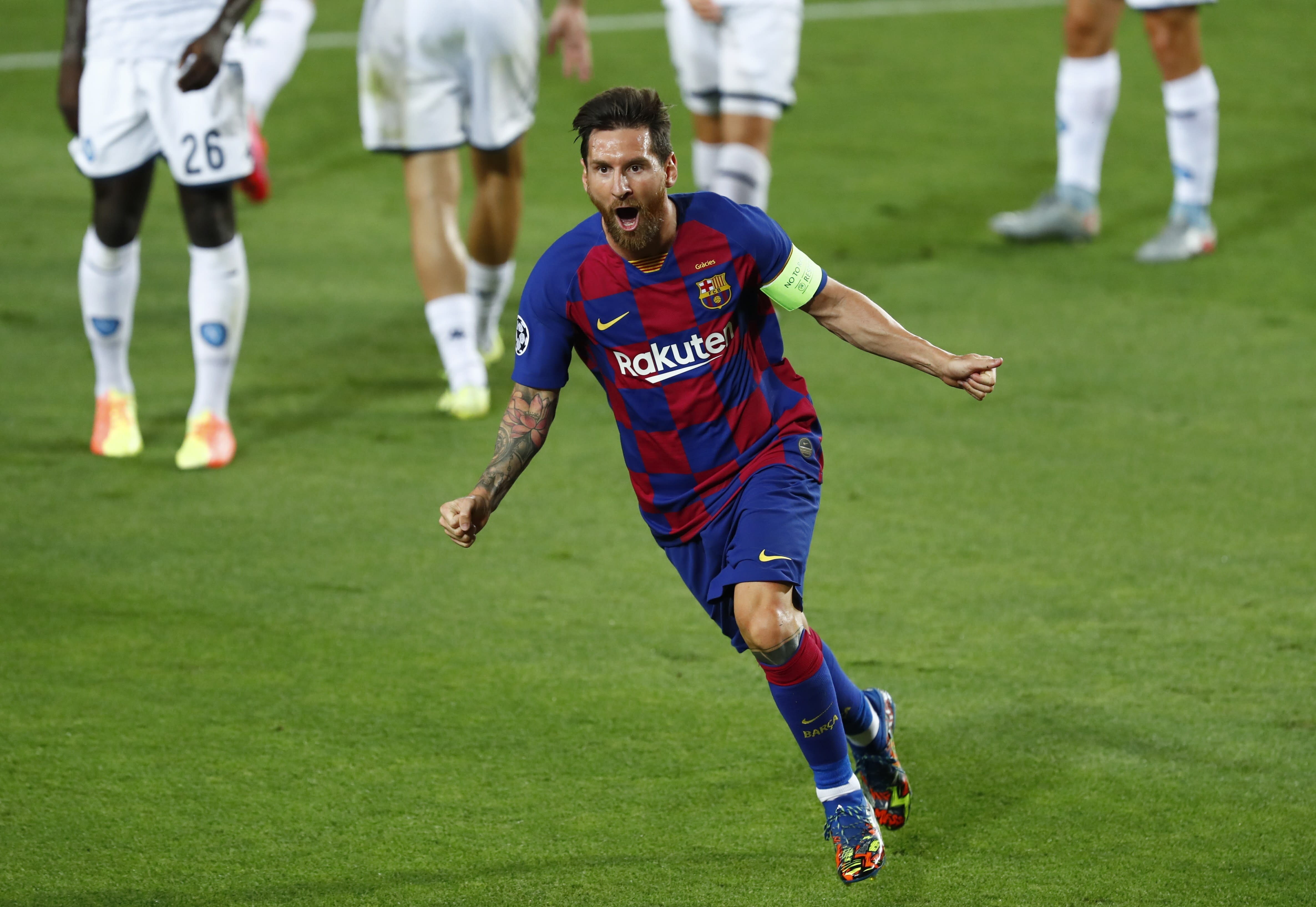 Lionel Messi S Brilliant Goal Lifts Barcelona In Champions League