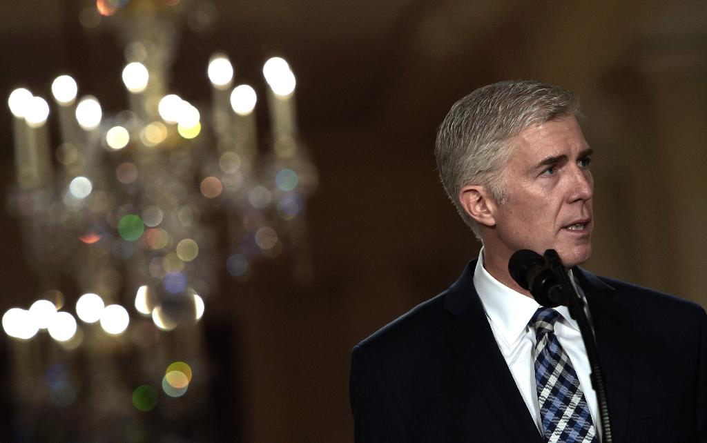 """Judge Neil Gorsuch is considered to be an """"originalist,"""" guided in his legal reasoning by what he believes to be the constitution's original intent and meaning (AFP Photo/Brendan SMIALOWSKI)"""