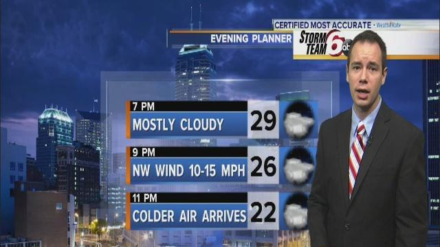 Saturday Evening Forecast: Snow moves out, colder temps move in