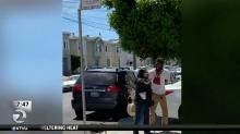 Food delivery man accused of yelling profanities, racial slurs at woman