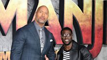 The Rock's sweet first photo of his newborn daughter was utterly ruined by Kevin Hart