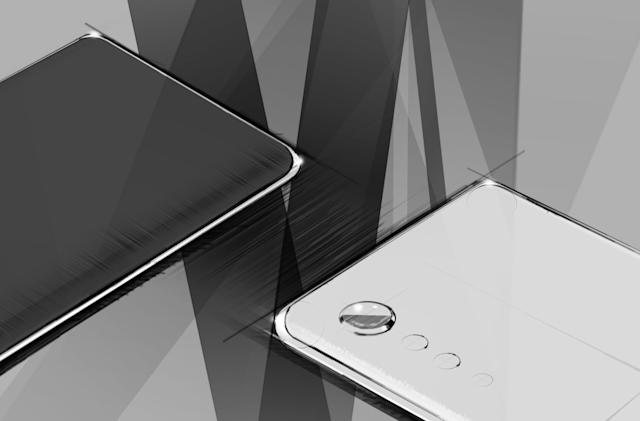 LG teases curved edges and 'Raindrop' camera for its next phone