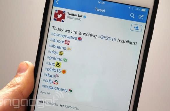 Election 'hashflags' are about to invade your Twitter feed