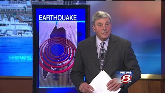 Earthquake rocks central Maine