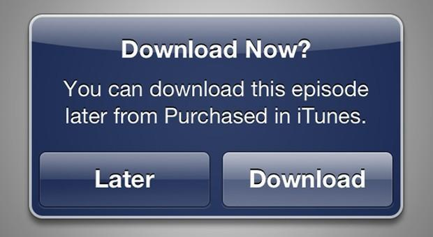 iTunes Store update lets you buy media today, download it tomorrow