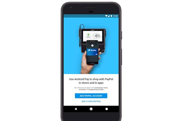 Android Pay can soon dip into your PayPal account