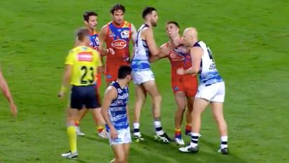 Gary Ablett caught red-handed clipping Suns rival