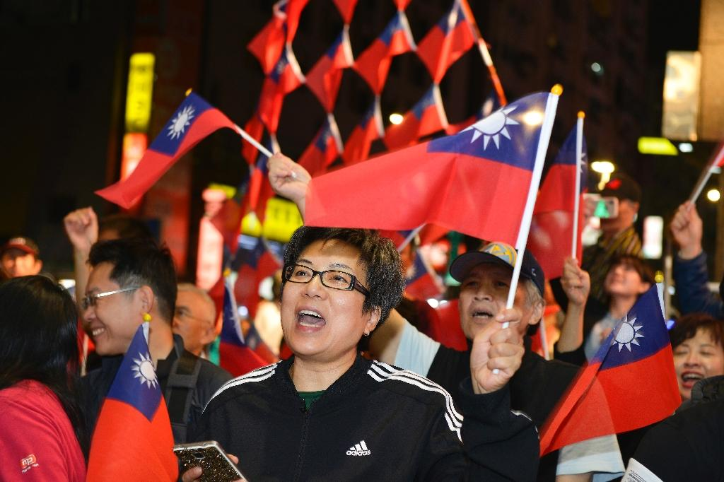 Taiwan's Beijing-friendly main opposition Koumintang made gains in the Saturday vote (AFP Photo/Chris STOWERS)