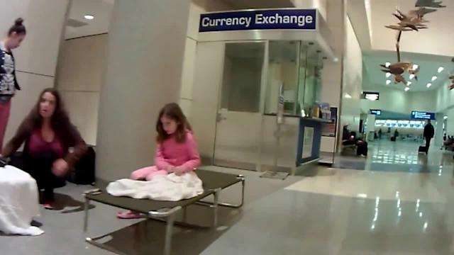 Passengers stranded at Dallas Airport due to ice storm