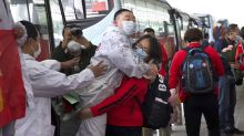 In pictures: Coronavirus lockdown is finally lifted in Wuhan after two months