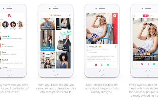 Tinder's new 'Gold' subscription shows your likes before you swipe