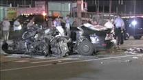 Police investigate deadly 3-car crash in Frankford