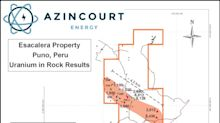 Azincourt Energy Amends Terms of Option to Acquire Uranium-Lithium Projects in Southern Peru